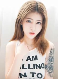 纹身美女谢芷馨Cherry诱人酥胸透视装无圣光白嫩美腿