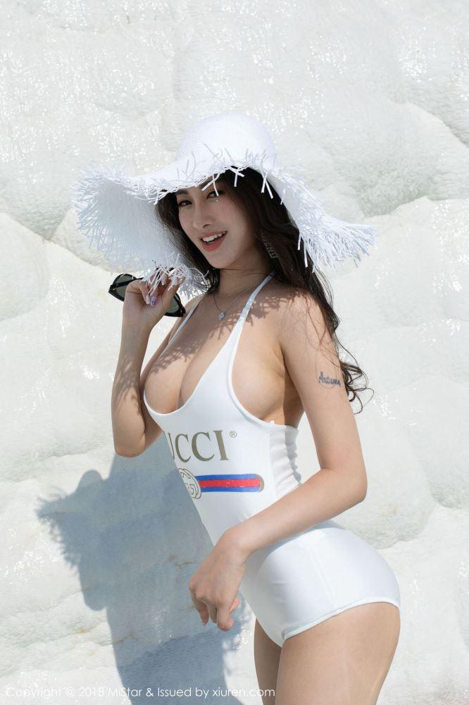 魅妍社气质女神穆菲菲比基尼美女大屁股翘臀美女图片