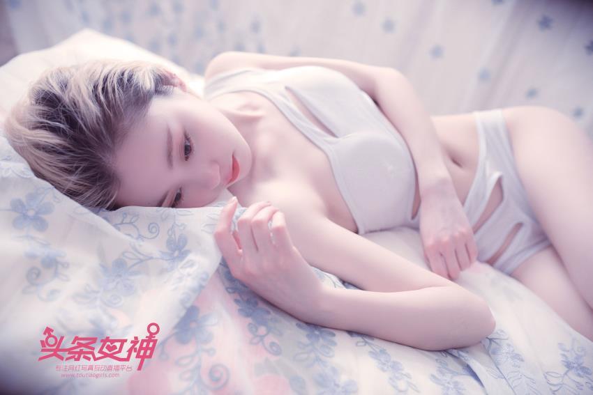 头条女神白嫩清纯美女子涵无圣光内衣诱惑性感美腿写真