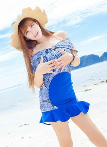 LalaBaby啦啦陈蕾蕾爱蜜社美女模特可爱清纯沙滩唯美写真