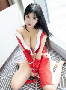 魅妍社小尤奈Cosplay王者荣耀女英雄不知火舞大尺度福利写真