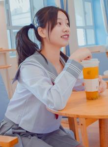 高校学生妹JK制服美女水手服双马尾俏皮可爱MM131美女写真