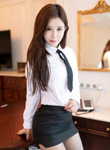 性感美女模特张雨萌纯小希制服黑丝魅妍社无圣光写真集