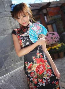 旗袍美女性感诱惑写真图片 美媛馆美女模特王馨瑶写真集