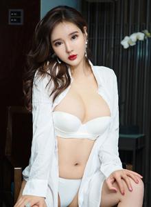 爱尤物美女模特佳佳JiaJia白衬衫美女性感内衣爆乳诱惑写真集