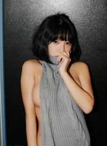 韩国美女嫩模姜仁卿比基尼诱惑+毛衣少女系列性感短发美女高清写真集