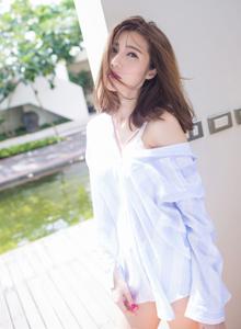 冷艳女神陈天扬白衬衫美女性感诱惑写真 爱蜜社陈天扬Vol.139美女写真集
