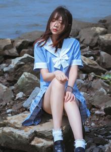 小清新女神疯猫ss连衣裙美女萝莉海滩唯美高清写真图片