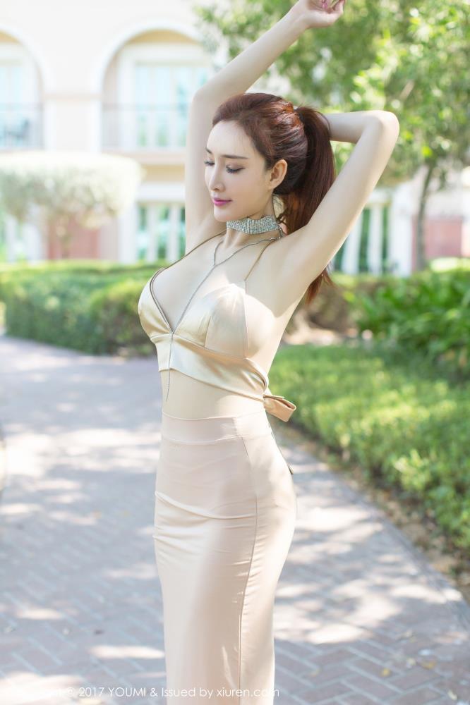 土肥圆矮挫穷迪拜旅拍 尤蜜荟周妍希黑丝美腿最美女神写真
