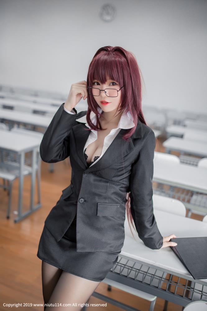 Yoko宅夏Fate/Grand Order斯卡哈教师Cosplay制服黑丝诱惑福利