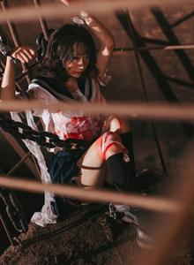 JK制服萝莉疯猫ss扮演被囚禁的少女Cosplay大尺度SM捆绑诱惑写真集