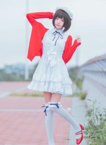 路人女主的养成方法加藤惠Cosplay桜桃喵白丝萝莉美腿福利图片