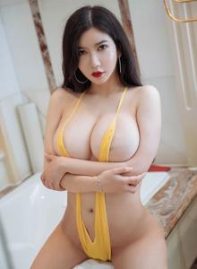 心妍小公主李妍曦大胸美女人体艺术性感黑丝美腿 花漾HuaYang写真集