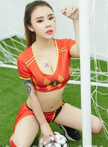 比利时狂欢世界杯足球宝贝爱丽莎性感丰满巨乳美女写真集