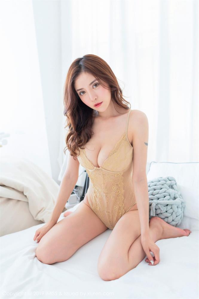 [IMiss爱蜜社]模特@陈思琪Art最新性感蕾丝内衣雪峰挺拔