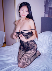 性感黑丝网袜美女大长腿私房写真 - [RUISG瑞丝馆]李可可高清套图