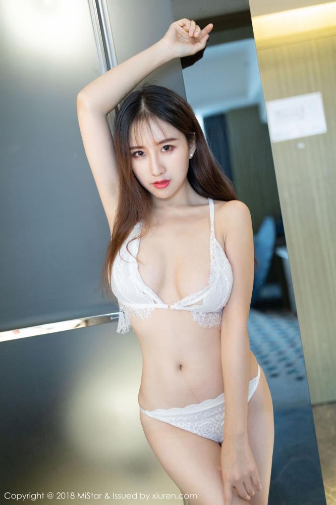 蕾丝花边性感内衣美女丰满巨乳 - [MiStar魅妍社]月音瞳最新性感写真