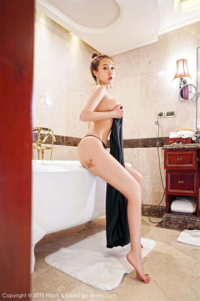 极品巨乳美女无圣光魅惑浴室写真 - [FEILIN嗲囡囡]御姐松果儿Victoria套图