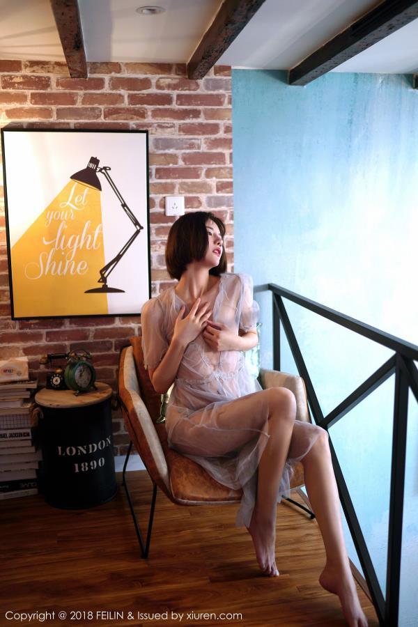 就是阿朱啊-白色蕾丝透视无圣光美女时尚大片 嗲囡囡美女模特阿朱写真