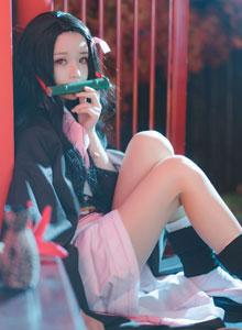 桜桃喵 - 鬼灭之刃女主灶门祢豆子Cosplay性感和服美女写真集