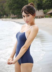 Milk楚楚 - 海滩死库水美女图片 [美媛馆MyGirl]Milk楚楚美女写真集
