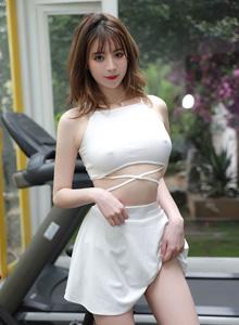 模范学院性感网红妹子yoo优优丰满巨乳美女写真照