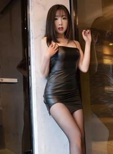 [语画界XIAOYU]蜜桃酱 - 独特魅力的皮衣与黑丝魅惑美女套图