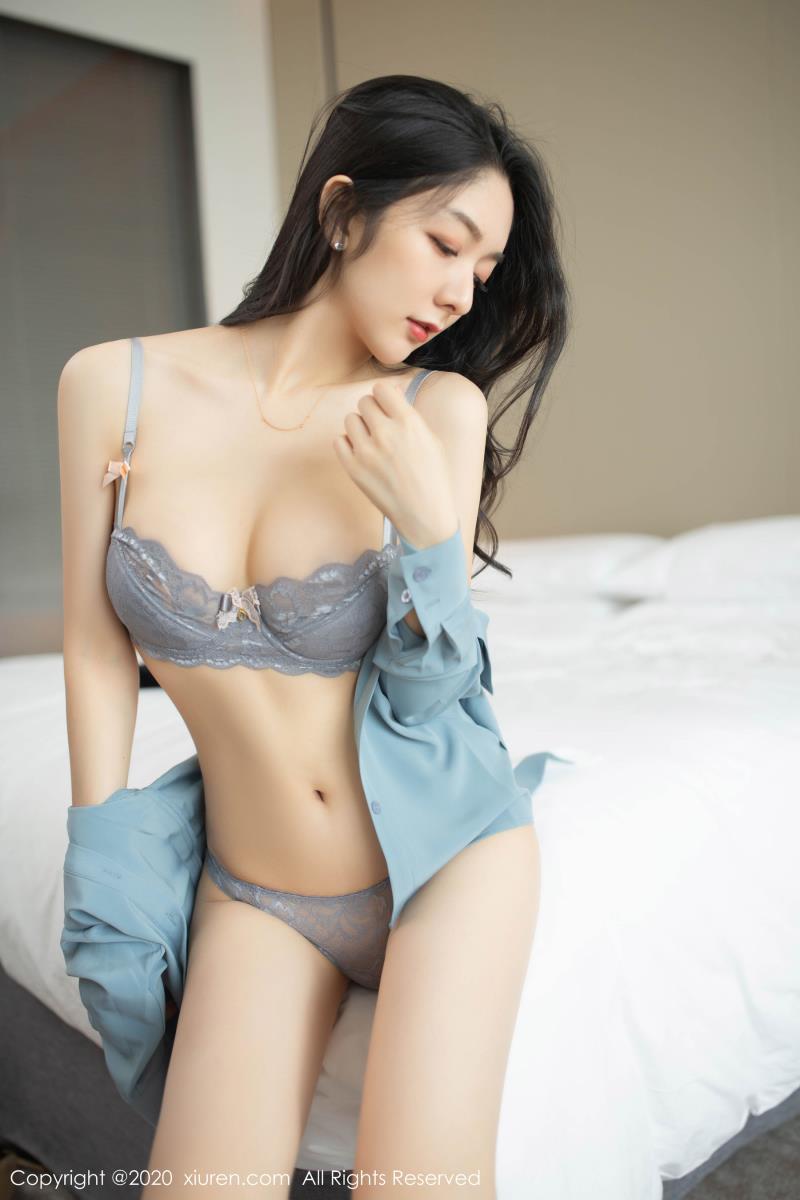秀人网Angela小热巴美女套图 - 职业灰丝OL内衣诱惑写真集